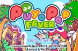 Puyo Pop Fever Game Boy Advance Title screen.
