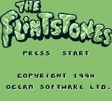 The Flintstones Game Boy Title screen