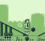 The Flintstones Game Boy Riding a unicycle but don't fall to the bottom