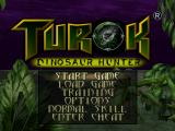 Turok: Dinosaur Hunter Nintendo 64 Title screen / Main menu.