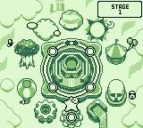 Kirby's Block Ball Game Boy Game map