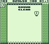 Kirby's Block Ball Game Boy Round clear!