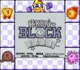 Kirby's Block Ball Game Boy Title screen (Super Game Boy)