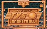 TV Sports: Basketball DOS Cinemaware's title screen for the game in the television