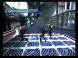 Æon Flux PlayStation 2 Fighting some opponents in the first mission.