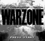 WWF War Zone Game Boy Title screen.