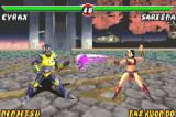 Mortal Kombat: Tournament Edition Game Boy Advance Meanwhile, in a subsequent battle, Cyrax must find a way to avoid Sareena's skull-shaped projectile.