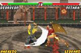 Mortal Kombat: Tournament Edition Game Boy Advance Using some swinging-sword moves, Scorpion starts an massive counterattack in a defensive Nitara.