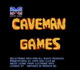 Caveman Ugh-Lympics NES Title Screen