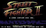 Street Fighter II Commodore 64 Title screen