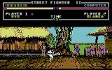 Street Fighter II Commodore 64 Blanka dodges the Hurricane Kick