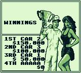 Ivan 'Ironman' Stewart's Super Off Road Game Boy Race 1's standings