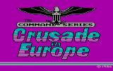 Crusade in Europe PC Booter Title screen 1 (CGA)