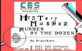 Mystery Master: Murder by the Dozen DOS Title screen (CGA)