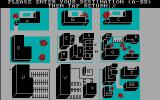 Mystery Master: Murder by the Dozen DOS The map of the city (CGA)