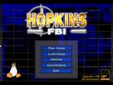 Hopkins FBI Linux Main menu screen.