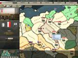 Hearts of Iron II: Doomsday Windows Main Map - This is were the gameplay occurs. Here we're viewing the armies of Poland.