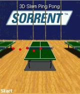 3D Slam Ping Pong J2ME Main game screen