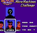 Micro Machines Game Gear Character selection.