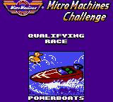 Micro Machines Game Gear Qualifying race intro.