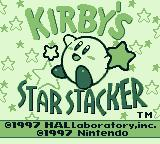 Kirby's Star Stacker Game Boy Title screen