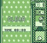 Kirby's Star Stacker Game Boy I cleared it