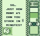 Kirby's Star Stacker Game Boy Goal of Time Attack