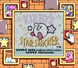 Kirby's Star Stacker Game Boy Title screen (Super Game Boy)