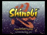 Shinobi PlayStation 2 Title Screen