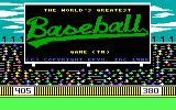 The World's Greatest Baseball Game PC Booter Title screen (PCjr)