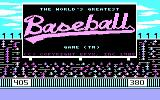 The World's Greatest Baseball Game PC Booter Title screen (CGA with RGB monitor)