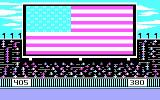 The World's Greatest Baseball Game PC Booter The national anthem plays (CGA with RGB monitor)