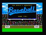 The World's Greatest Baseball Game PC Booter Title screen (CGA with composite monitor)