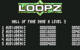 Loopz Commodore 64 Title screen
