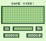Loopz Game Boy I used up all my tries, game over
