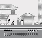 The Lawnmower Man Game Boy Shooting enemies