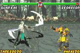 Mortal Kombat: Tournament Edition Game Boy Advance With some quick steps, Scorpion escapes at time to avoid be struck by Quan Chi's Winged Strike move.