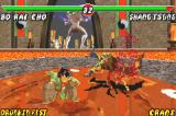 Mortal Kombat: Tournament Edition Game Boy Advance Bo' Rai Cho uses a ground-stomping move and causes a simple change in Shang Tsung's energy bar...