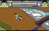 Thai Boxing Commodore 64 Fighting on top of a mountain