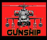 Gunship MSX Title screen