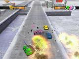 Mashed: Drive to Survive Windows Snow, ice, laser, explosions and debris - all caught on single screenshot.