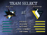NHL Breakaway 98 Nintendo 64 Team selection.