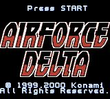 AirForce Delta Game Boy Color Title screen