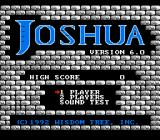 Joshua & the Battle of Jericho NES Title screen/main menu