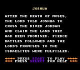 Joshua & the Battle of Jericho NES The story