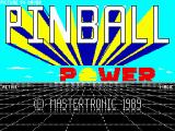 3D-Pinball ZX Spectrum Loading screen