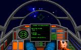 Wing Commander II: Vengeance of the Kilrathi DOS flying to a checkpoint - MCGA/VGA