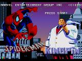 The Amazing Spider-Man vs. The Kingpin SEGA CD Title screen