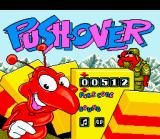 Pushover SNES Title screen / Main menu.
