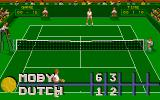 Jimmy Connors Pro Tennis Tour Amiga Current score of the match